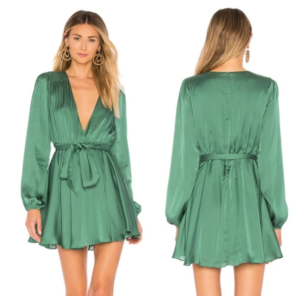 Lovers + Friends Dresses & Skirts - Lovers + Friends Green Ivy Long Sleeve Mini Dress